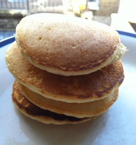 Sunday breakfast means pancakes.