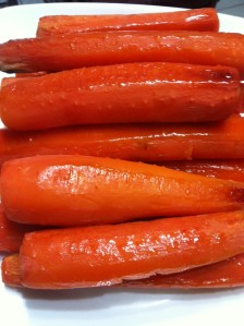 honeyed roast carrots