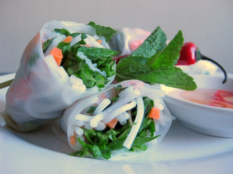 Start - err, spring - with summer rolls.