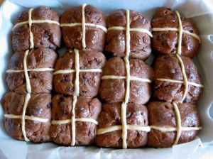 For who can resist a hot cross bun, still warm from the oven?