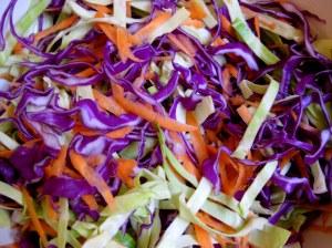 Mayo-free healthy coleslaw
