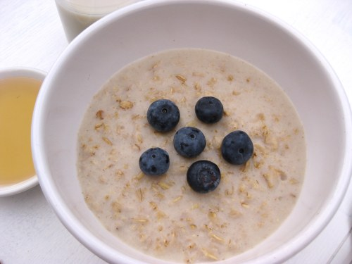 oatmeal with almond milk