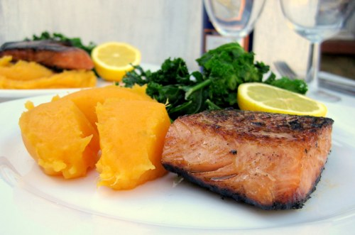 Salmon. It's nutritious and delicious!