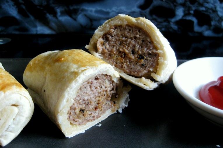 Lamb sausage rolls.